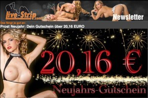 LiveStrip Newsletter mit Neujahrs Gutschein