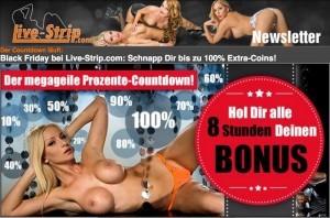 LiveStrip Newsletter mit Prozente Countdown
