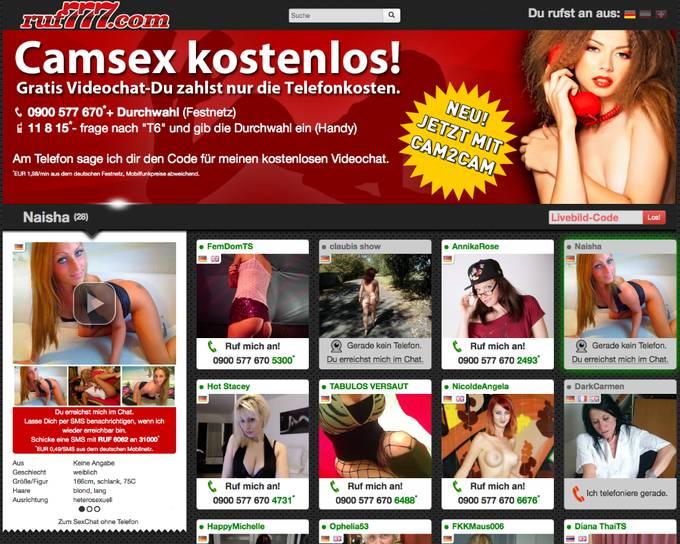 ruf777.com - Telefonsex mit Cam ohne Registrierung